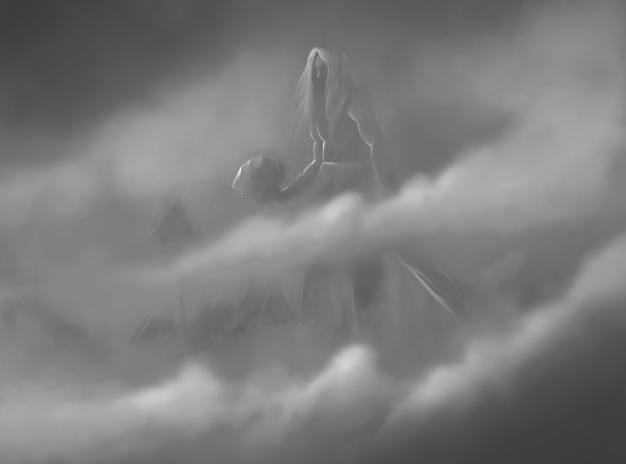 """the-murdellicious #91: """"Fog Giant"""" - by Tuomas Salmela themurling.tumblr.com (2015) © dell'autore tutti i diritti riservati"""