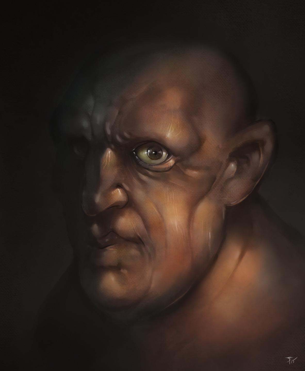"""the-murdellicious #92: """"Fomorian Giant"""" - by Tuomas Salmela themurling.tumblr.com (2015) © dell'autore tutti i diritti riservati"""