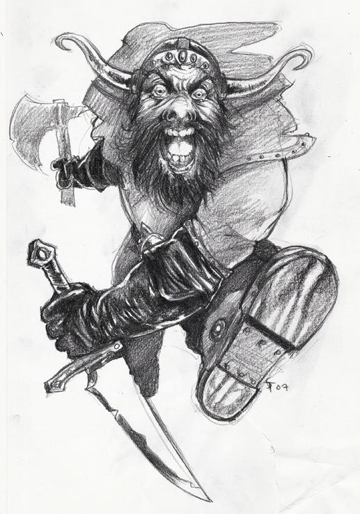 """the-murdellicious """"Anger of a Dwarf"""" - by Tuomas Salmela themurling.tumblr.com (2007) © dell'autore tutti i diritti riservati"""