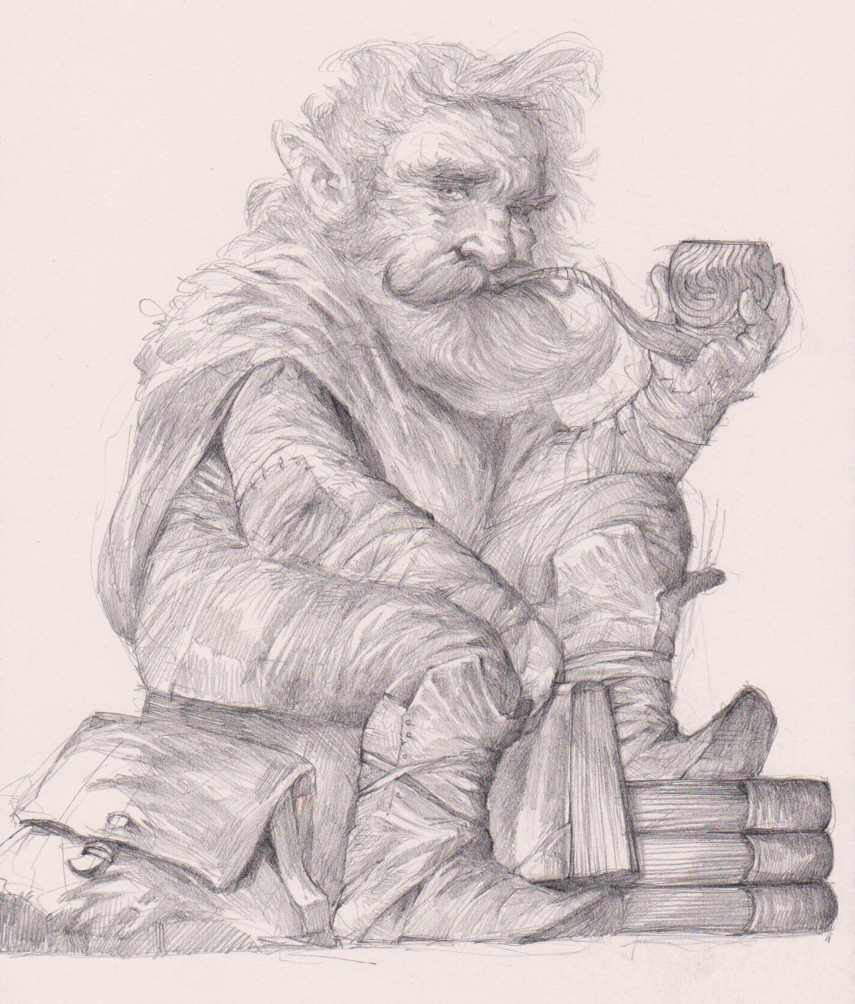 "the-murdellicious Pencil sketch for ""Gnome"" - by Tuomas Salmela themurling.tumblr.com (2016) © dell'autore tutti i diritti riservati"
