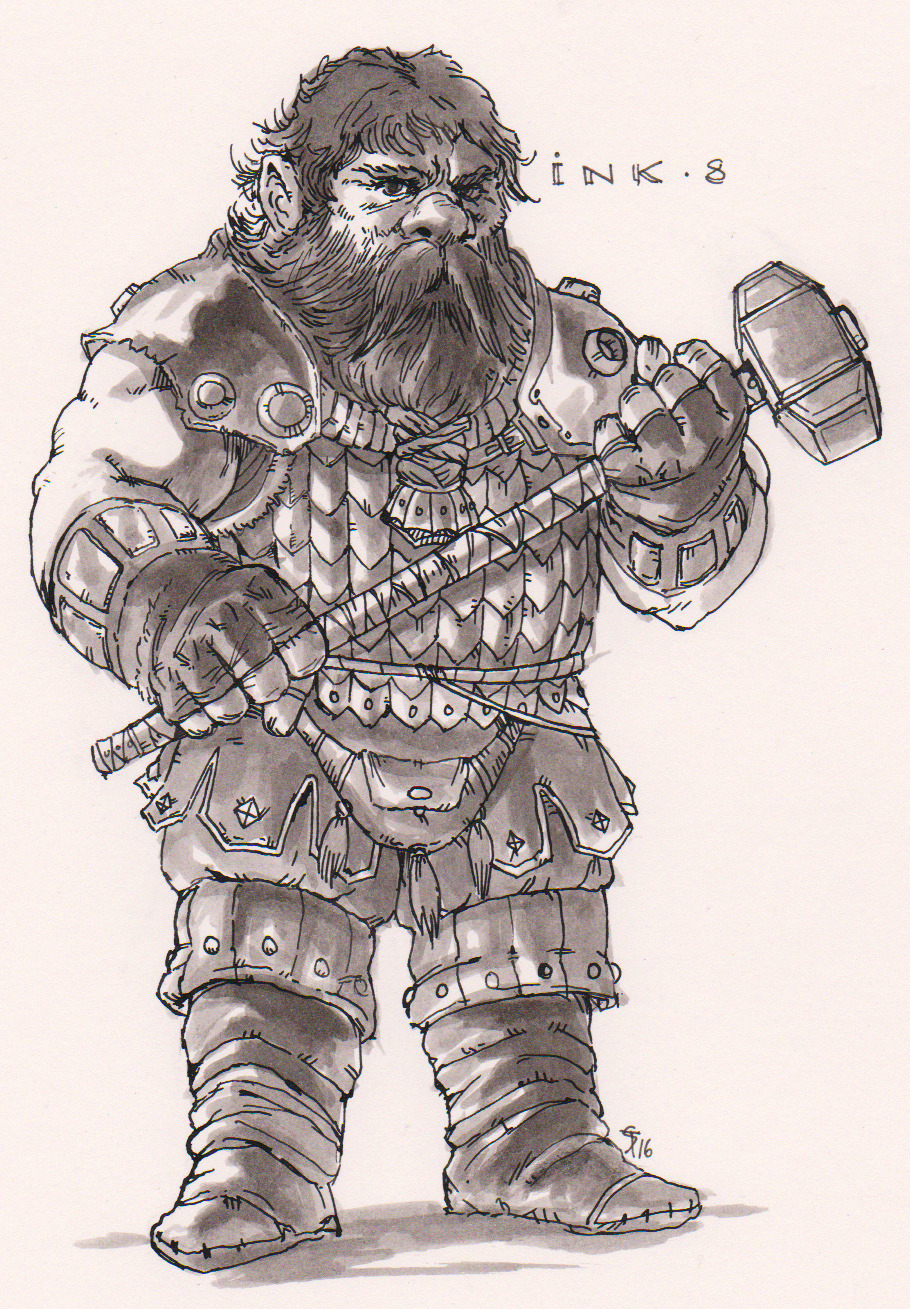 "the-murdellicious Inktober: ""Bim, the Magic Dwarf!"" - by Tuomas Salmela themurling.tumblr.com (2016) © dell'autore tutti i diritti riservati"