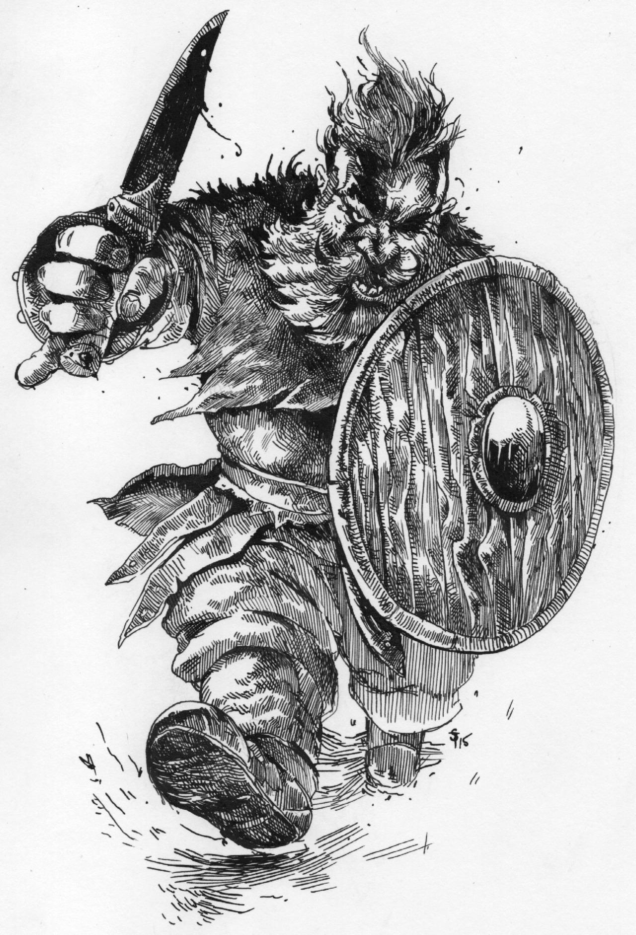 """the-murdellicious Inktober: """"Anger-Dwarf"""" - by Tuomas Salmela themurling.tumblr.com (2015) © dell'autore tutti i diritti riservati"""