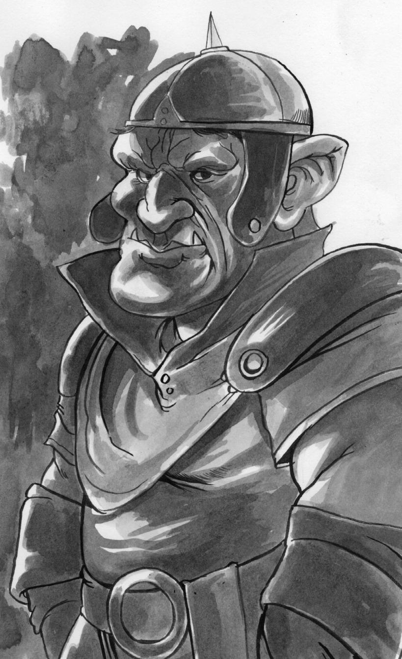 """the-murdellicious Inktober: """"Goblin"""" - by Tuomas Salmela themurling.tumblr.com (2015) © dell'autore tutti i diritti riservati"""