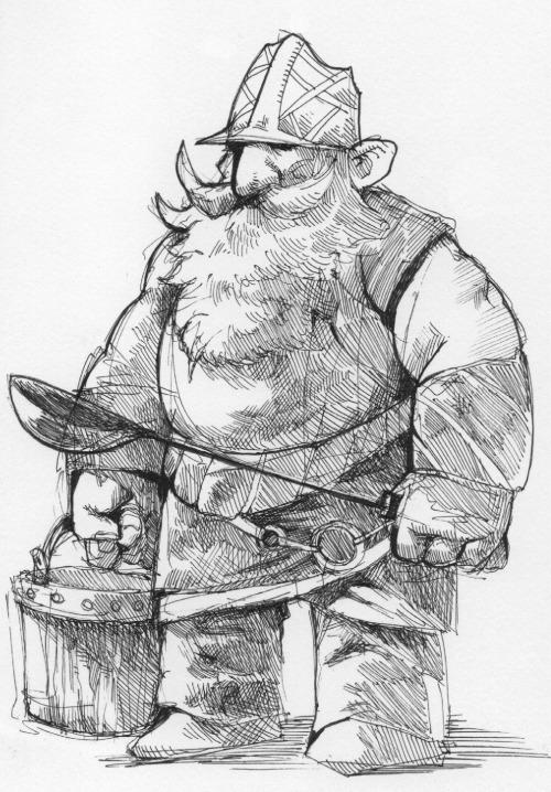 """the-murdellicious Inktober: """"Sauna Gnome"""" - by Tuomas Salmela themurling.tumblr.com (2015) © dell'autore tutti i diritti riservati"""