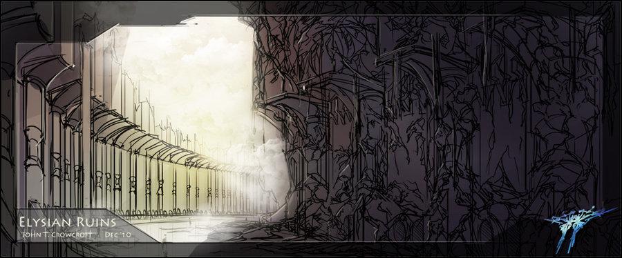 """john crowcroft """"Elysian Ruins"""" - by Vox-Maledictum (Thammakhun John Crowcroft) vox-maledictum.deviantart.com (2011) © dell'autore tutti i diritti riservati"""