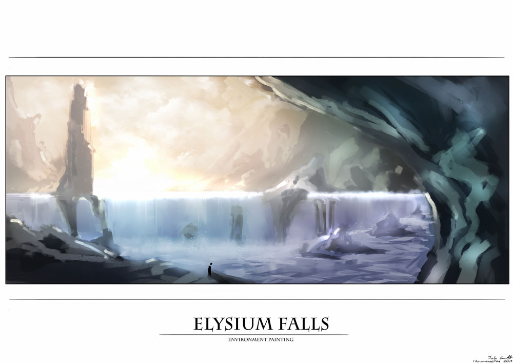 "john crowcroft ""Elysium Falls"" - by Vox-Maledictum (Thammakhun John Crowcroft) vox-maledictum.deviantart.com (2013) © dell'autore tutti i diritti riservati"