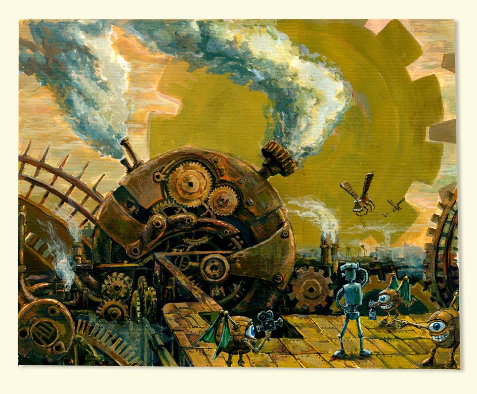 """don fuflon """"Tin Woodman at Mechanus"""", un perplesso uomo di latta - by Don Fuflon (Alexey Shatohin) deusuum.deviantart.com (2008) © dell'autore tutti i diritti riservati"""