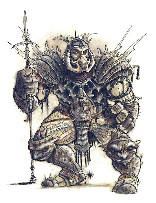 mercykillers guard Guardia Mercykiller - by Tony Diterlizzi TSR - Planescape Campaign Setting, A Player's Guide to the Planes (1994-04) © Wizards of the Coast & Hasbro