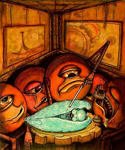 """steelgrave """"The Deva Child"""", non avrei mai pensato di vedere degli sgoggazzi modron... - by steelgrave (Shaun) steelgrave.deviantart.com (2009) © dell'autore tutti i diritti riservati"""