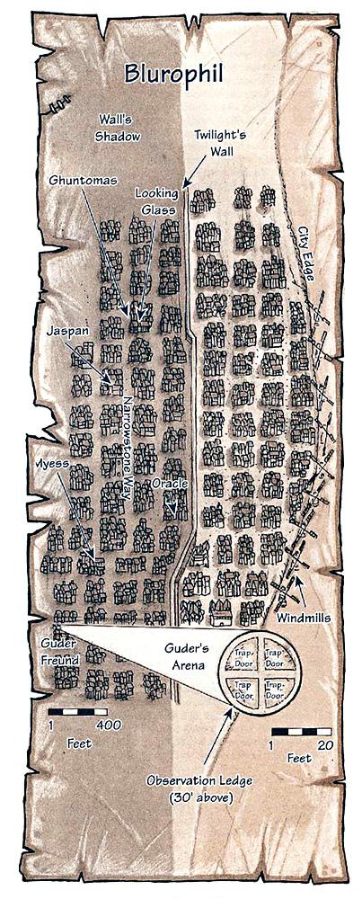 blurophil city scheme elemental plane of air La città di Blurophil TSR - Tales from th Infinite Staircase (1998-05) © Wizards of the Coast & Hasbro