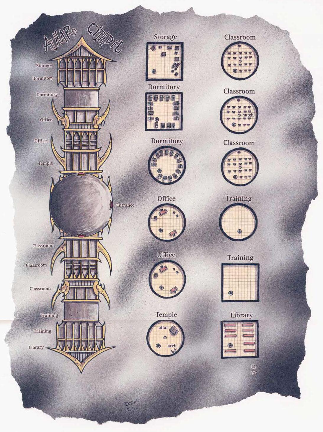 athar citadel scheme La doppia cittadella degli Athar A Guide to the Astral Plane (1996-10) © Wizards of the Coast & Hasbro