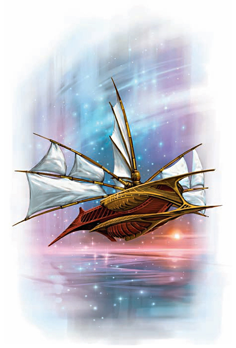 githyanki astral ship Viaggi astrali - by Zoltan Boros e Gabor Szikszai Manual of the Planes (2008-12) © Wizards of the Coast & Hasbro