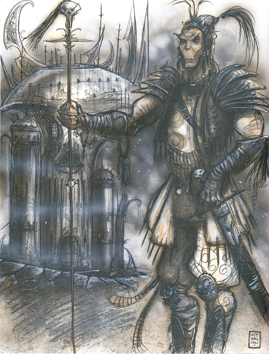astral gith planescape Una cittadella Githyanki nell'Astrale - by Tony Diterlizzi TSR - Planescape Campaign Setting - A DM Guide to the Planes (1994-04) © Wizards of the Coast & Hasbro