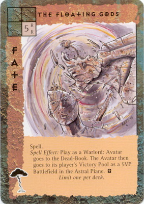 "astral ""The Floating Gods"", le divinità morte nell'Astrale - by Rob Lazzaretti TSR - ""Blood Wars"" card game Base Escalation Pack 3, Powers & Proxies (1995) © Wizards of the Coast & Hasbro"