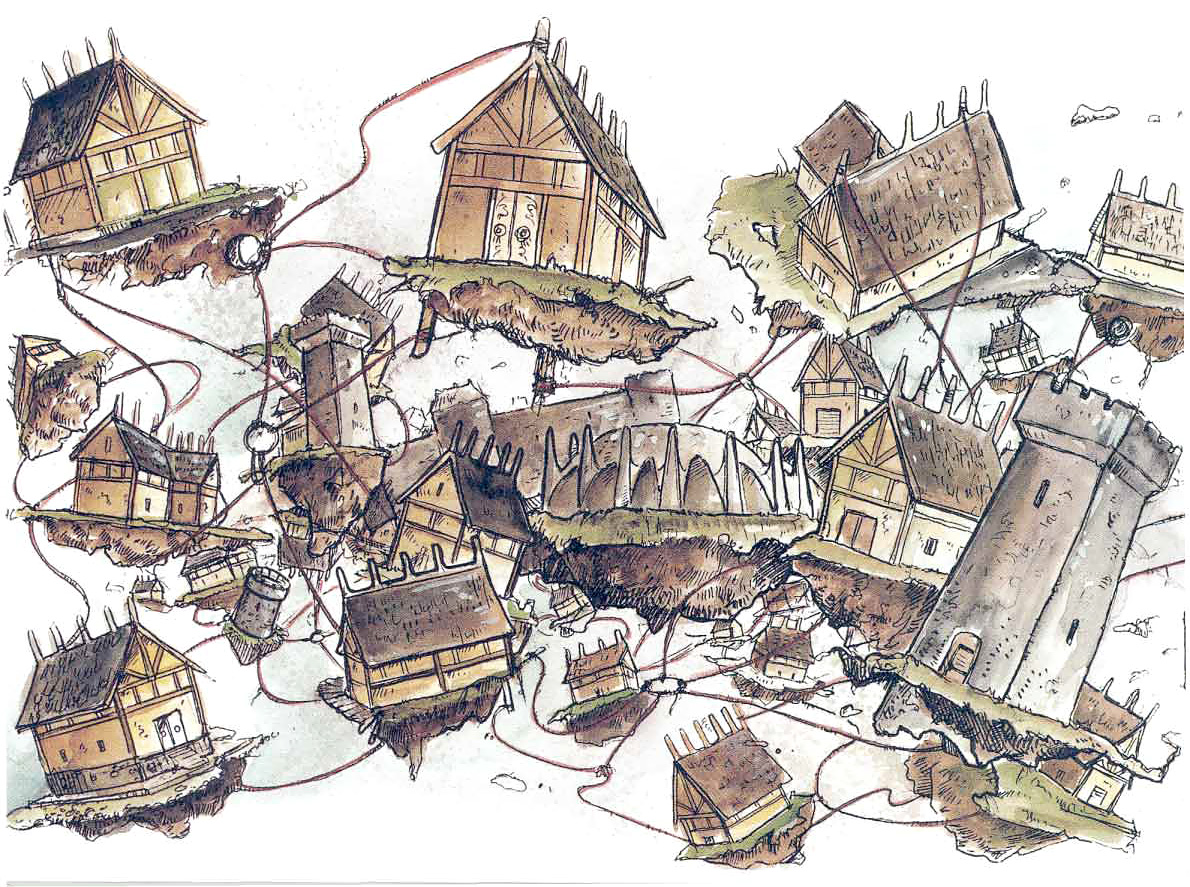 swallowed city astral La Città Risucchiata - by Tony Diterlizzi TSR - A Guide to the Astral Plane (1996-10) © Wizards of the Coast & Hasbro
