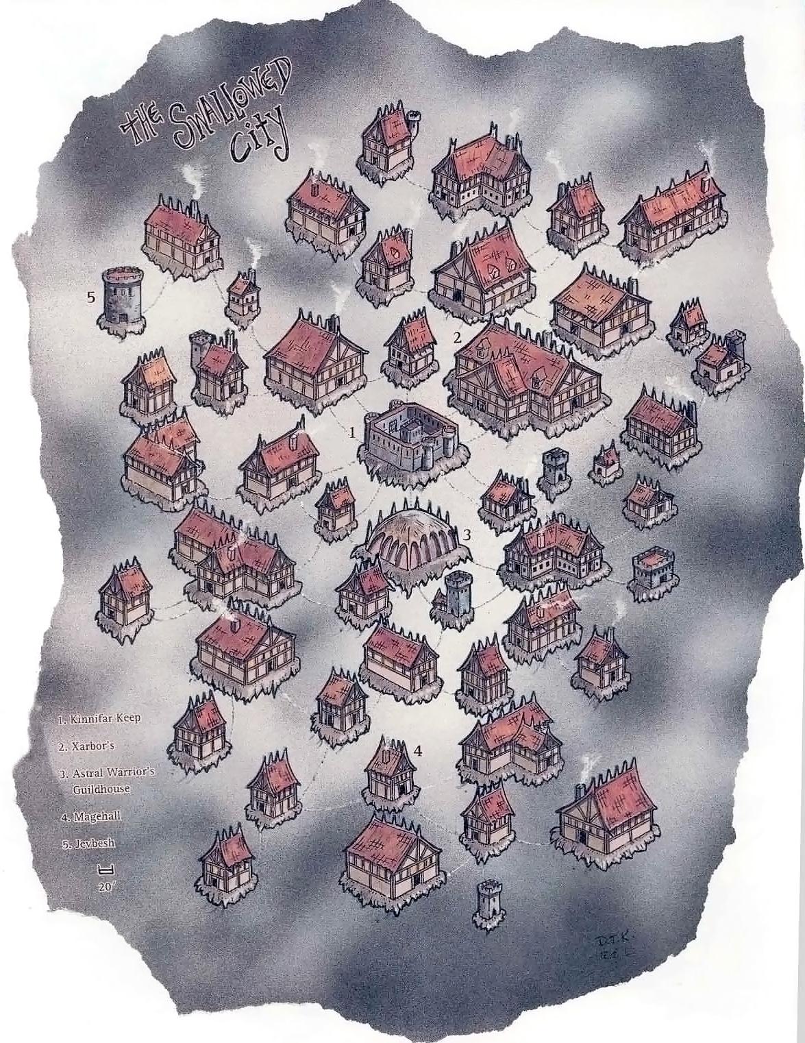 the swallowed city map Mappa della Città Risucchiata A Guide to the Astral Plane (1996-10) © Wizards of the Coast & Hasbro