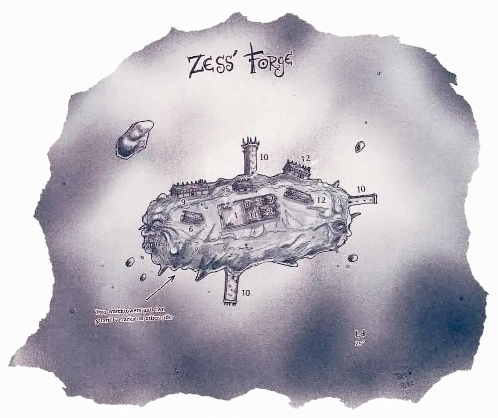 Zess Forge Schema della Forgia di Zess A Guide to the Astral Plane (1996-10) © Wizards of the Coast & Hasbro