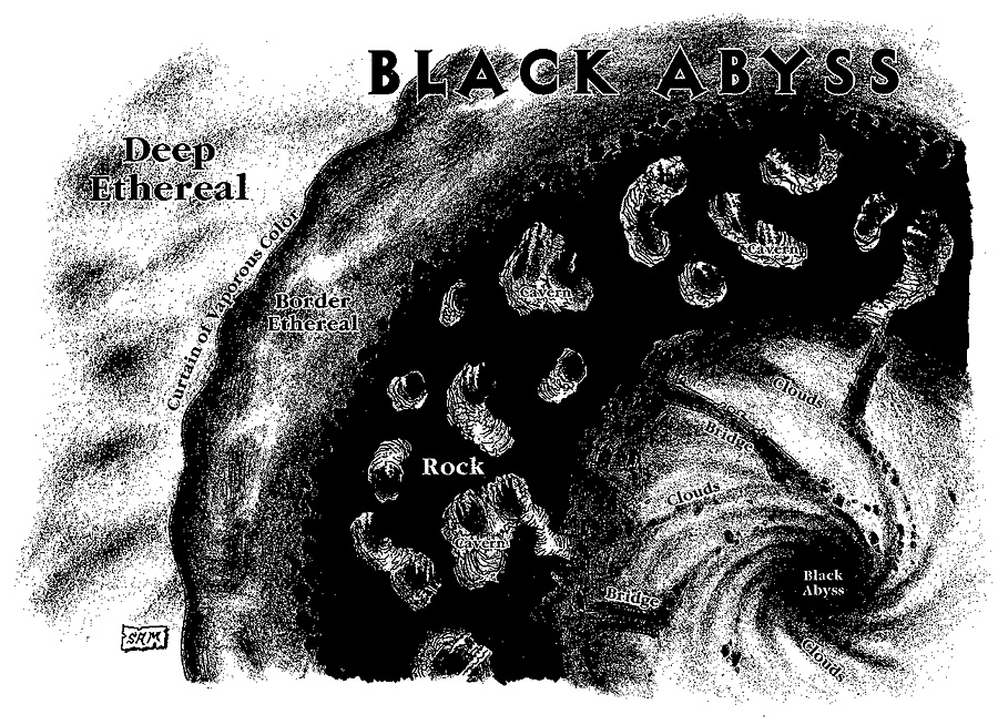 black abyss demiplane ethereal Il semipiano dell'Abisso Nero - by Sam Wood TSR - A Guide to the Etereal Plane (1998-08) © Wizards of the Coast & Hasbro