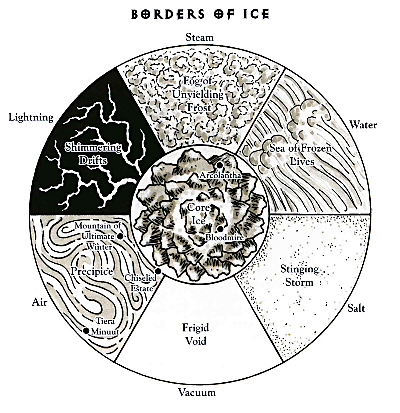 plane of ice borders scheme Bordi del piano del Ghiaccio TSR - The Inner Planes (1998-12) © Wizards of the Coast & Hasbro