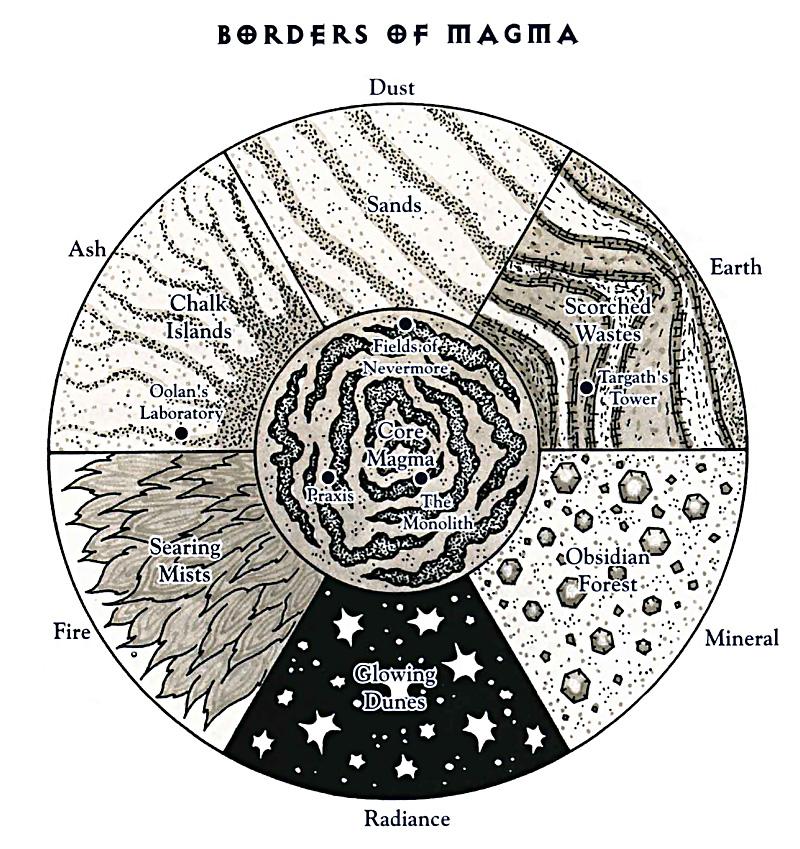 plane of magma borders scheme Bordi del piano del Magma TSR - The Inner Planes (1998-12) © Wizards of the Coast & Hasbro