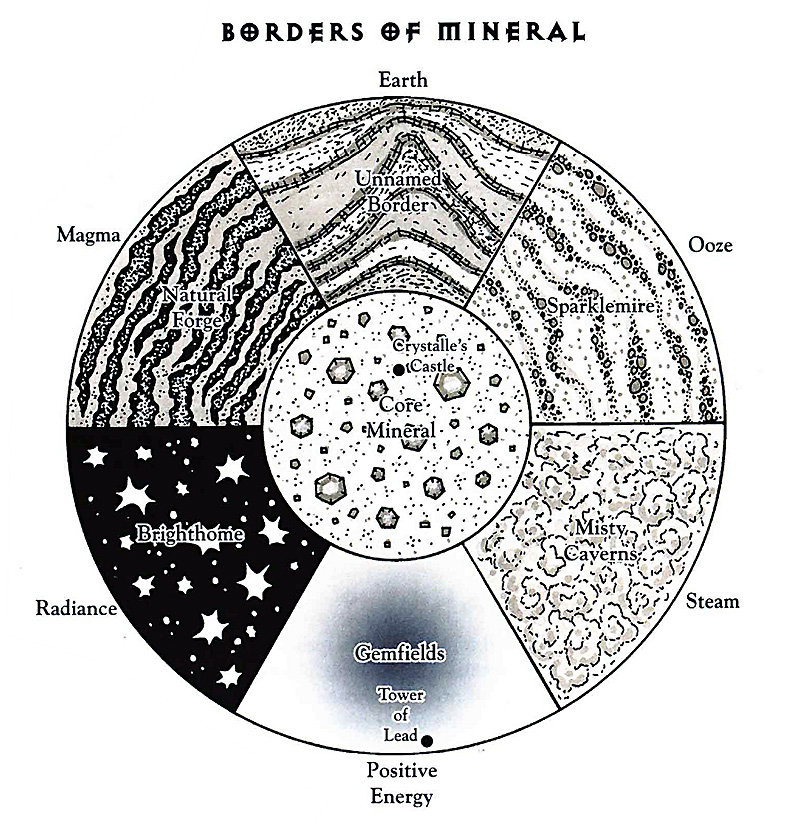 plane of mineral borders scheme Bordi del piano del Minerale TSR - The Inner Planes (1998-12) © Wizards of the Coast & Hasbro