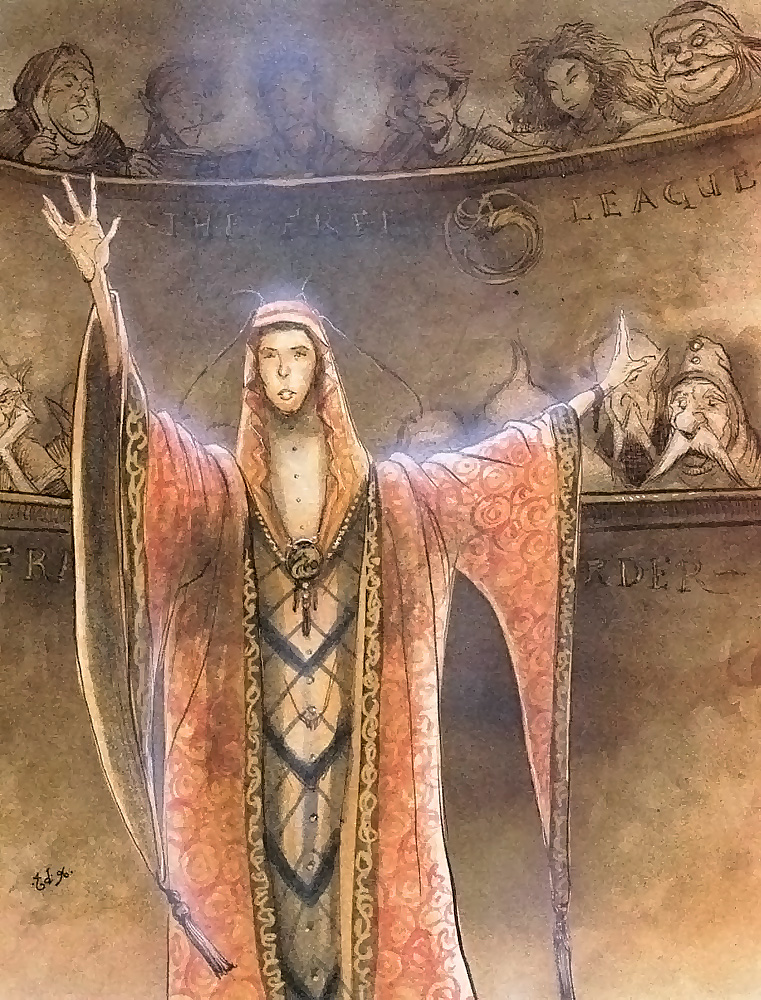 {$tags} Factol Darius in Assemblea - by Tony Diterlizzi TSR – The Planewalker's Handbook (1996-08) © Wizards of the Coast & Hasbro