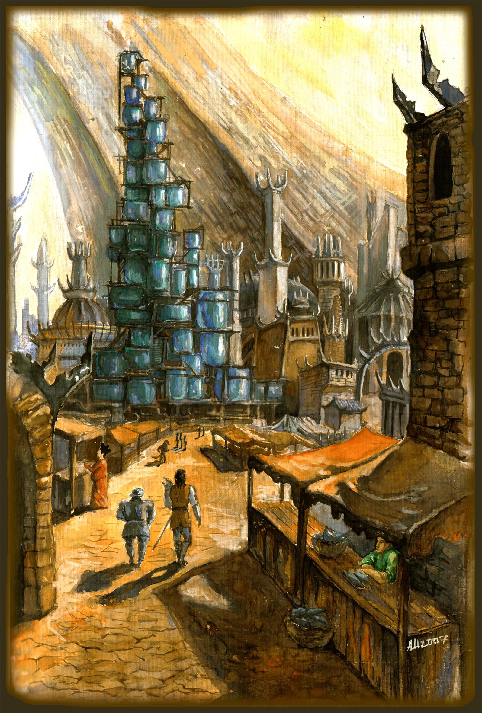 """don fuflon """"Sigil view"""", illustrazione """"per"""" il romanzo Fire and Dust - by Don Fuflon (Alexey Shatohin) deusuum.deviantart.com (2007) © dell'autore tutti i diritti riservati"""
