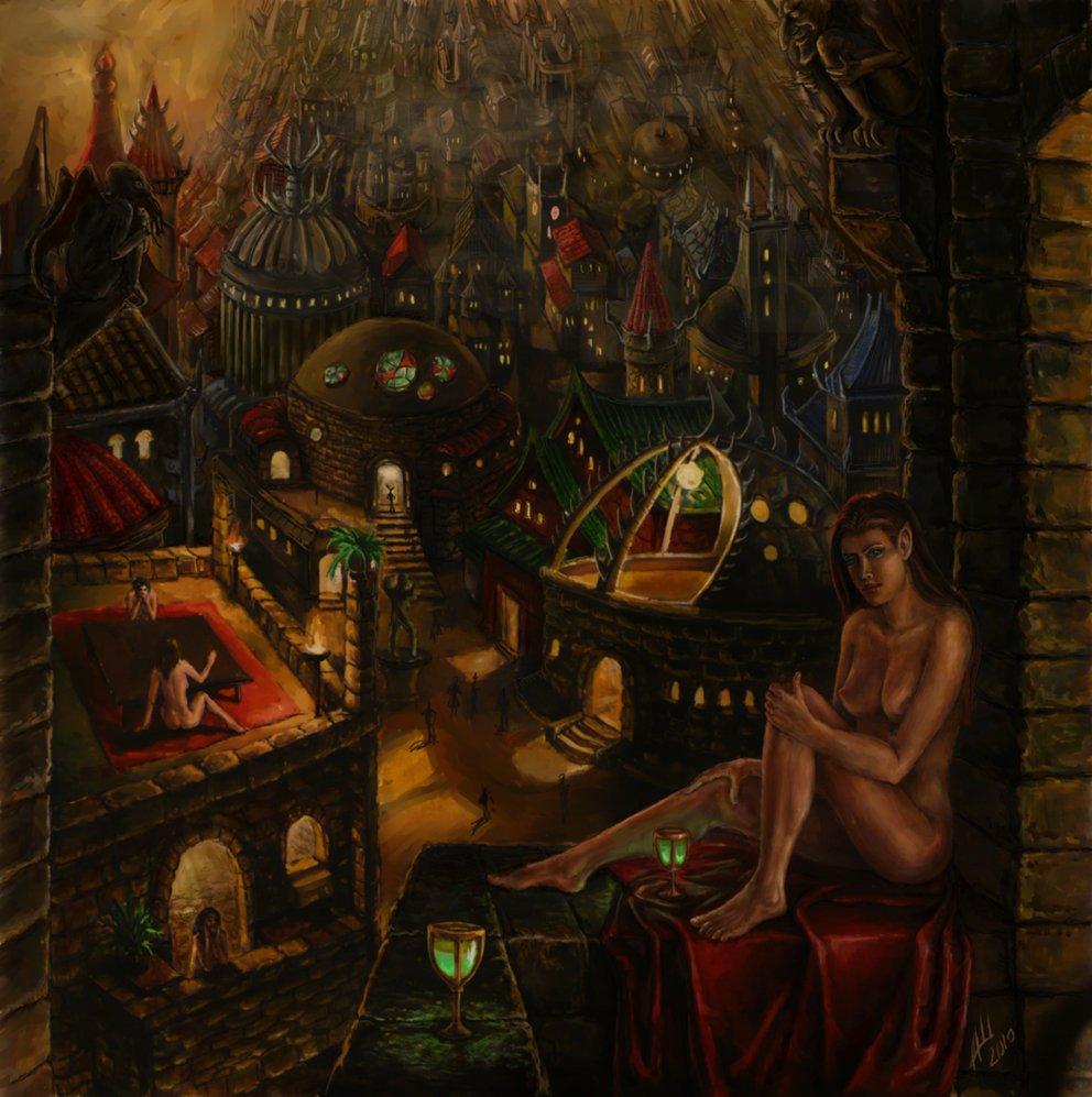 """don fuflon """"The Red Lights of Sigil"""" - by Don Fuflon (Alexey Shatohin) deusuum.deviantart.com (2010) © dell'autore tutti i diritti riservati"""