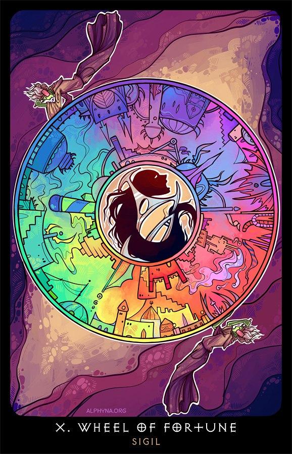 """Alphyna """"X - Wheel Of Fortune"""", la città di Sigil come """"La Ruota Della Fortuna"""" - by Alphyna (Альфина) alphyna.org (2016-10) © dell'autore tutti i diritti riservati"""