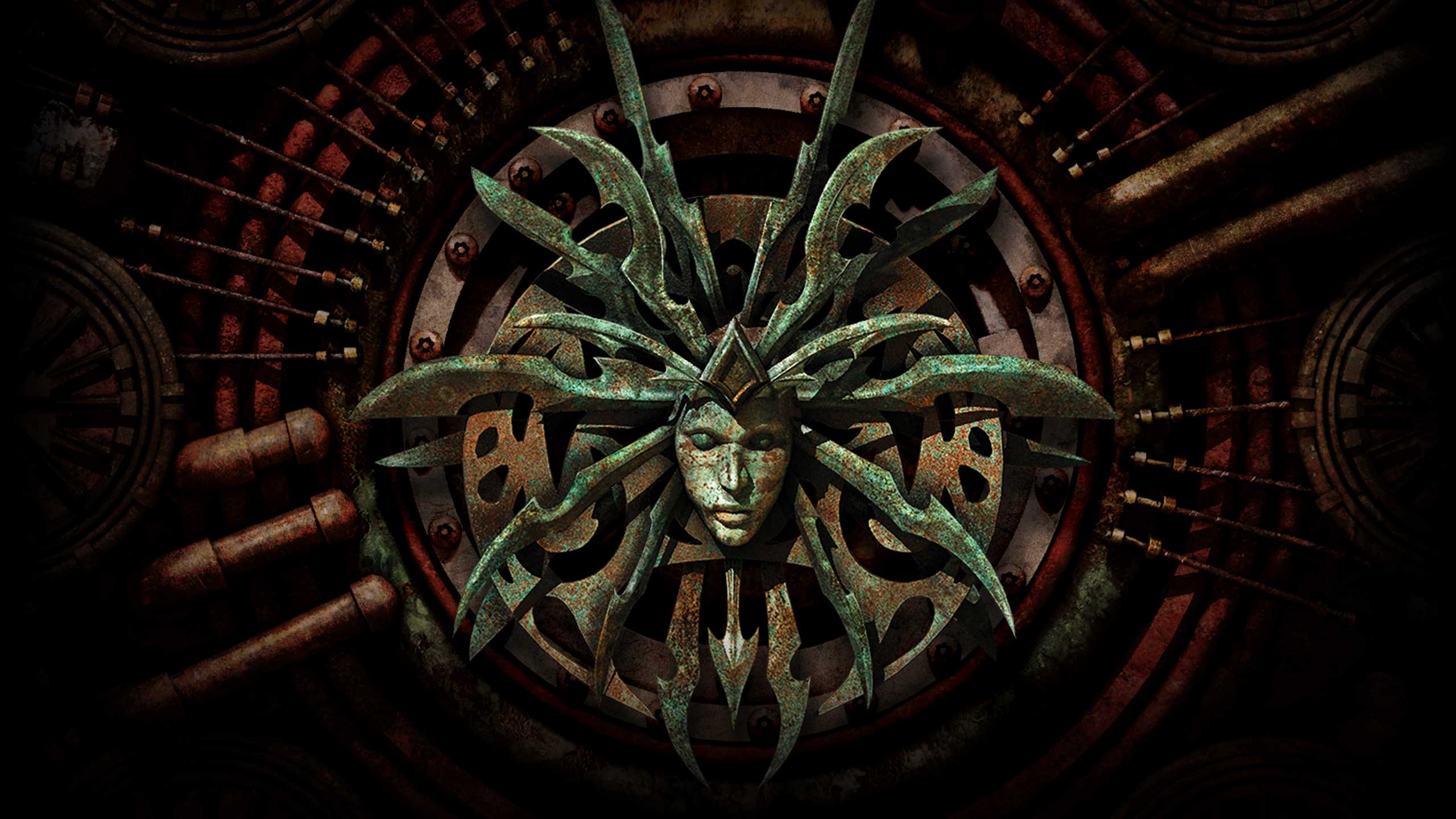 "beamdog enhanced edition Lady of Pain, uno degli sfondi del sito promozionale di ""Planescape: Torment Enhanced Edition"" www.planescape.com (2017-03) © Beamdog, Wizards of The Coast & Hasbro"