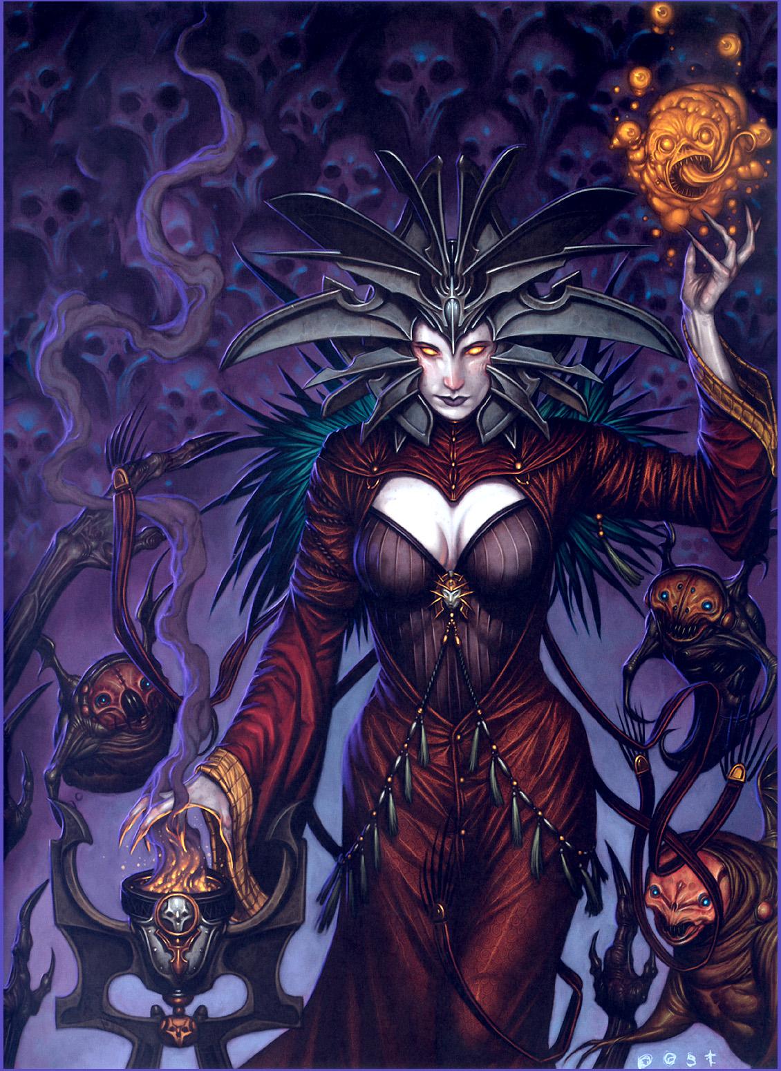 lady of pain cover La Signora del Dolore in copertina - by R. K. Post WOTC - Dragon Magazine # 339 (2006-01) © Wizards of the Coast & Hasbro