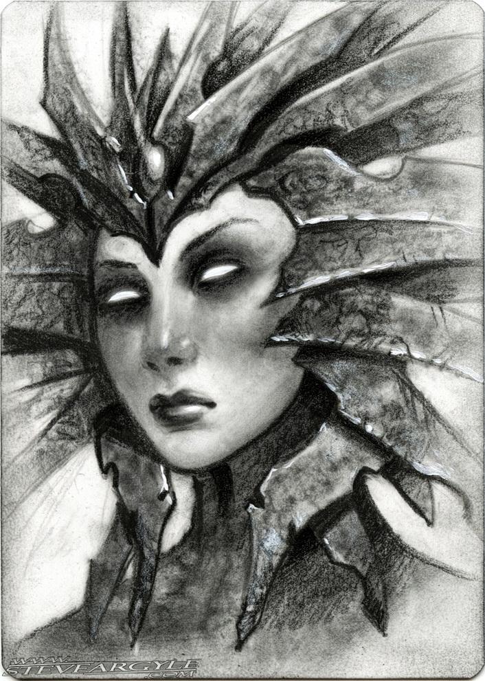 "Steve Argyle Lady of Pain, Artist Proof Sketch card contest a ""tema"" Planescape - by Steve Argyle steveargyle.tumblr.com (2015-09) © dell'autore tutti i diritti riservati"