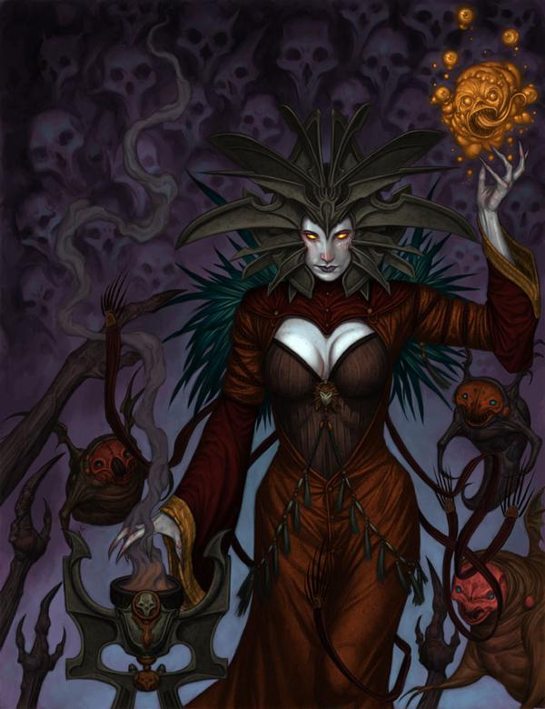 lady of pain cover La Signora del Dolore, illustrazione semidefinitiva - by R. K. Post WOTC - Dragon Magazine # 339 (2006-01) © Wizards of the Coast & Hasbro