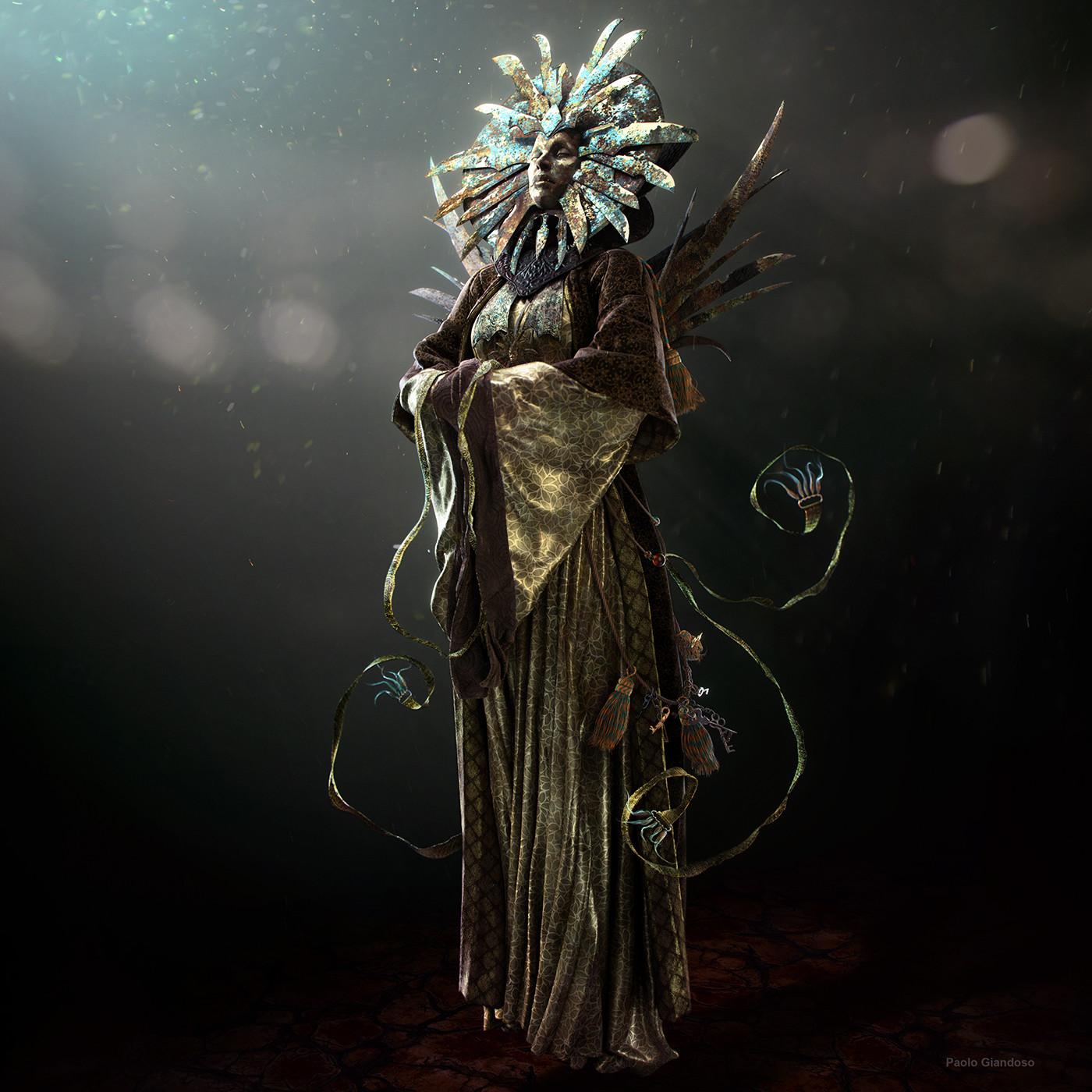 """giandoso lady of pain 3d """"Her Serenity"""", Render 3D di Sua Serenità - by Paolo Giandoso www.artstation.com (2016-01) © dell'autore tutti i diritti riservati"""