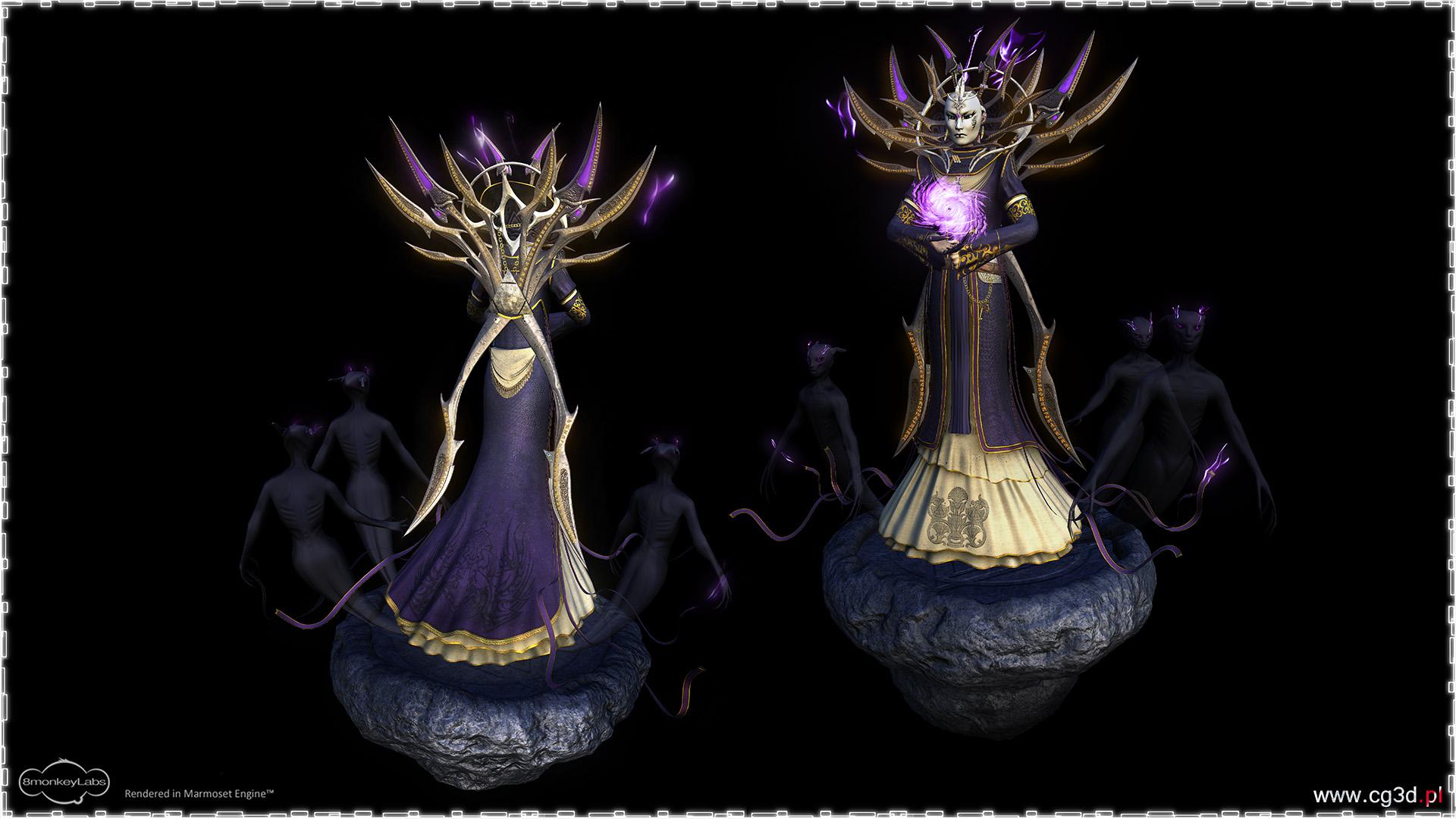 """pussik """"Lady of Pain and her Shadows"""" modello realizzato per una competizione su GameArtisans.org - by Artur Perzyna cg3d.pl (2010-2014) © dell'autore tutti i diritti riservati"""