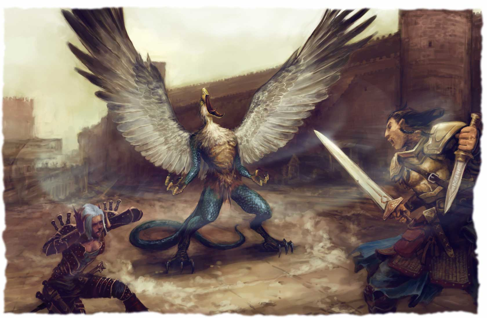 Vrock_Fight_by_James_Zhang-%282008%29_PAIZO_Pathfinder-Game_Mastery_Module_-_The_Demon_Within-PZO9511%20.jpg