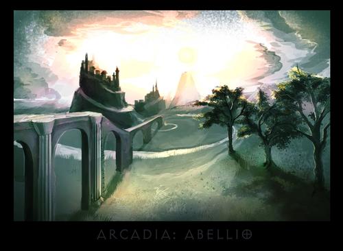 """ronamis """"Arcadia - Abellio"""", cartolina dei Piani Esterni - by ronamis (Michael Malkin) ronamis.deviantart.com (2013) © dell'autore tutti i diritti riservati"""