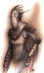 {$tags} Abiorach Rilmani - by Tony Diterlizzi TSR Planescape - Monstrous Compendium Appendix II (1995-02) © Wizards of the Coast & Hasbro