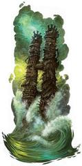 fortress La fortezza di Abysm, la dimora di Demogorgon - by Ralph Horsley Fiendish Codex I, Hordes of the Abyss (2006) © Wizards of the Coast & Hasbro