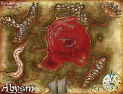 {$tags} Una mappa di Abysm - by Jared Blando WOTC - Demonomicon (2010-07) © Wizards of the Coast & Hasbro