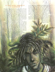 high grove Boscoalto di Alfheim - by Tony Diterlizzi TSR - Plane of Chaos (1994-07) © Wizards of the Coast & Hasbro