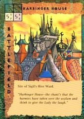 "sigil ""Harbinger House"" - by Newt Ewell TSR - ""Blood Wars"" card game Escalation Pack 2, Factols & Factions (1995) © Wizards of the Coast & Hasbro"
