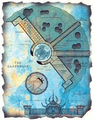 """the gatehous map sigil hive Pianta del Cancello - by David S. """"Diesel"""" LaForce e Dana Knutson TSR - The Factol's Manifesto (1995-06) © Wizards of the Coast & Hasbro"""