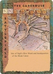 "sigil ""The Gatehouse"" - by Rob Lazzaretti TSR - ""Blood Wars"" card game Escalation Pack 2, Factols & Factions (1995) © Wizards of the Coast & Hasbro"