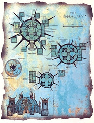 "the mortuary map sigil hive Pianta del Mortuario - by David S. ""Diesel"" LaForce e Dana Knutson TSR - The Factol's Manifesto (1995-06) © Wizards of the Coast & Hasbro"