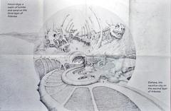 arborea first layer map Amun-Thys e la città di Elshava - by Dana Knutson TSR - Planes of Chaos (1994-07) © Wizards of the Coast & Hasbro