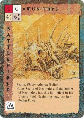 "pelion arborea ""Amun-Thys"" - by Dana Knutson TSR - ""Blood Wars"" card game Base Pack (1995) © Wizards of the Coast & Hasbro"