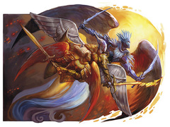 {$tags} Angeli in 4a edizione - by Julie Dillon Dungeons & Dragons Essentials, Monster Vault (2010-11) © Wizards of the Coast & Hasbro