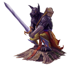 {$tags} Arconte Segugio - by Michael Jaecks Pathfinder Roleplaying Game Bestiary (2009) © Paizo Publishing, Wizards of the Coast & Hasbro