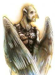 sword archon Arconte Spada in Planescape - by Tony Diterlizzi TSR Planes of Law Boxed Set (1995-01) © Wizards of the Coast & Hasbro